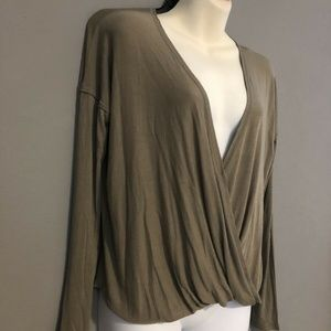 Urban Outfitters Small Olive Long Sleeve Top NWT